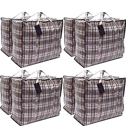 Paquete de 8 bolsas de compras XX-Large STRONG Storage ...
