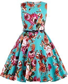 Amazon.com: GRACE KARIN Girls Retro Sleeveless Floral ...