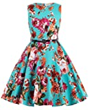 Amazon Price History for:Kate Kasin Girls Sleeveless Vintage Floral Swing Party Dresses