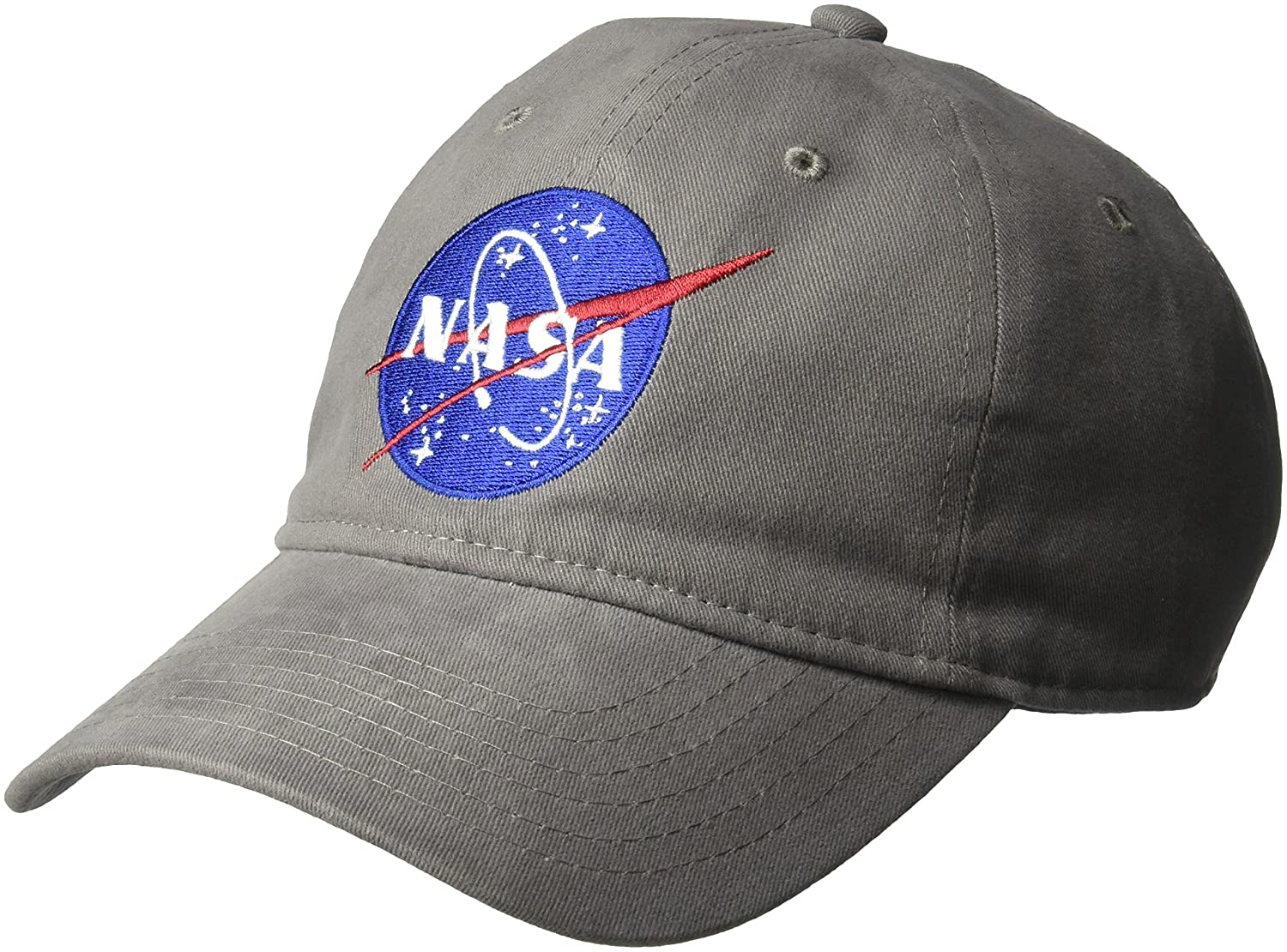 Concept One Men's NASA Washed Twill Baseball Cap, Adjustable, Grey, One Size CPNA2003AZ-020