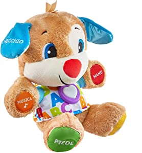 Fisher-Price The Dog Smart Stages Laugh and Learn Soft Plush Educational with Music and Songs Toy for Children 6+ Months FPM51
