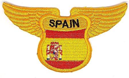 Parche escudo de España con alas de águila con escudo bordado para planchar o coser en