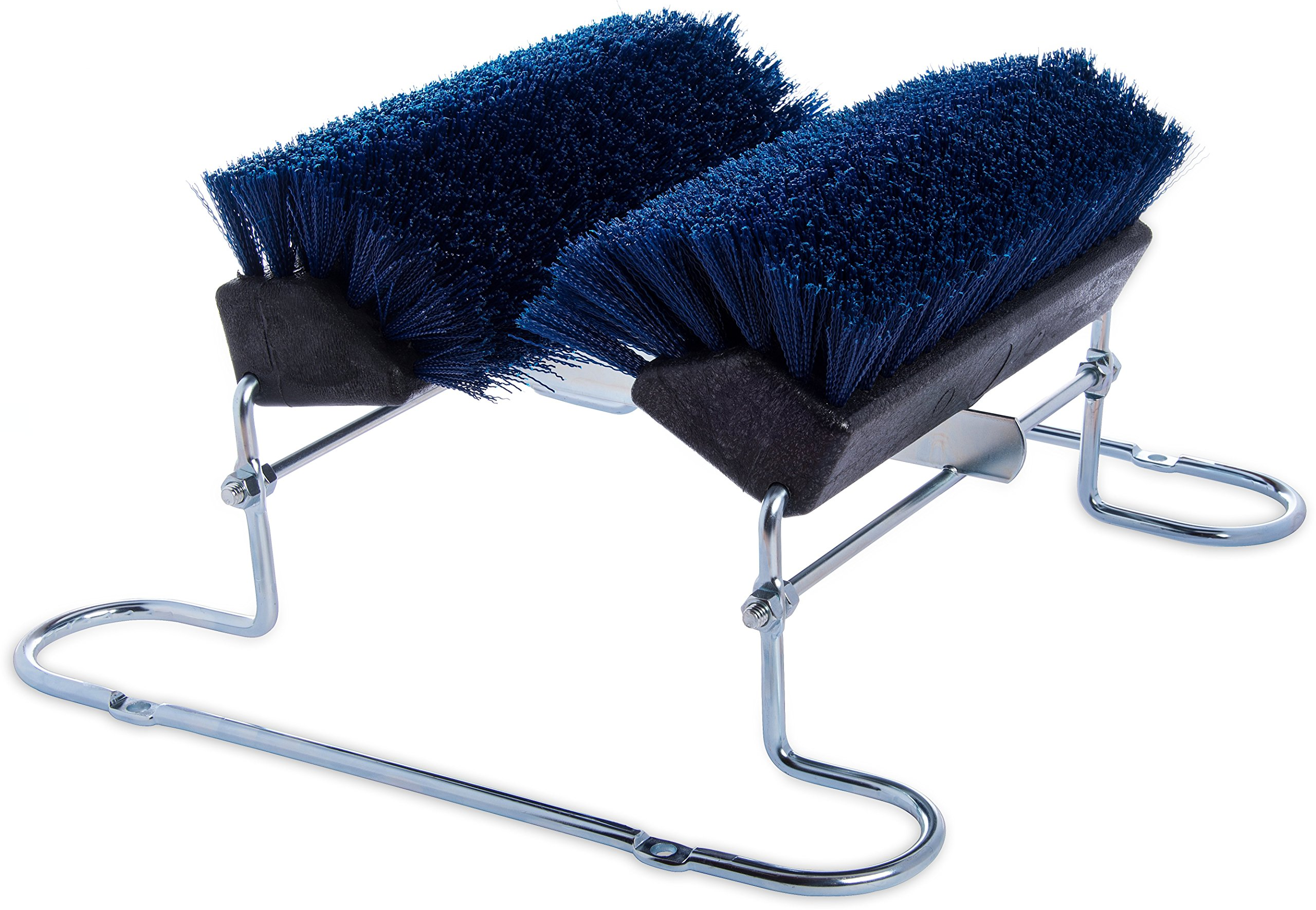 Carlisle 4042414 Commercial Boot 'N Shoe Brush Scraper with Chrome Plated Steel Frame, Blue
