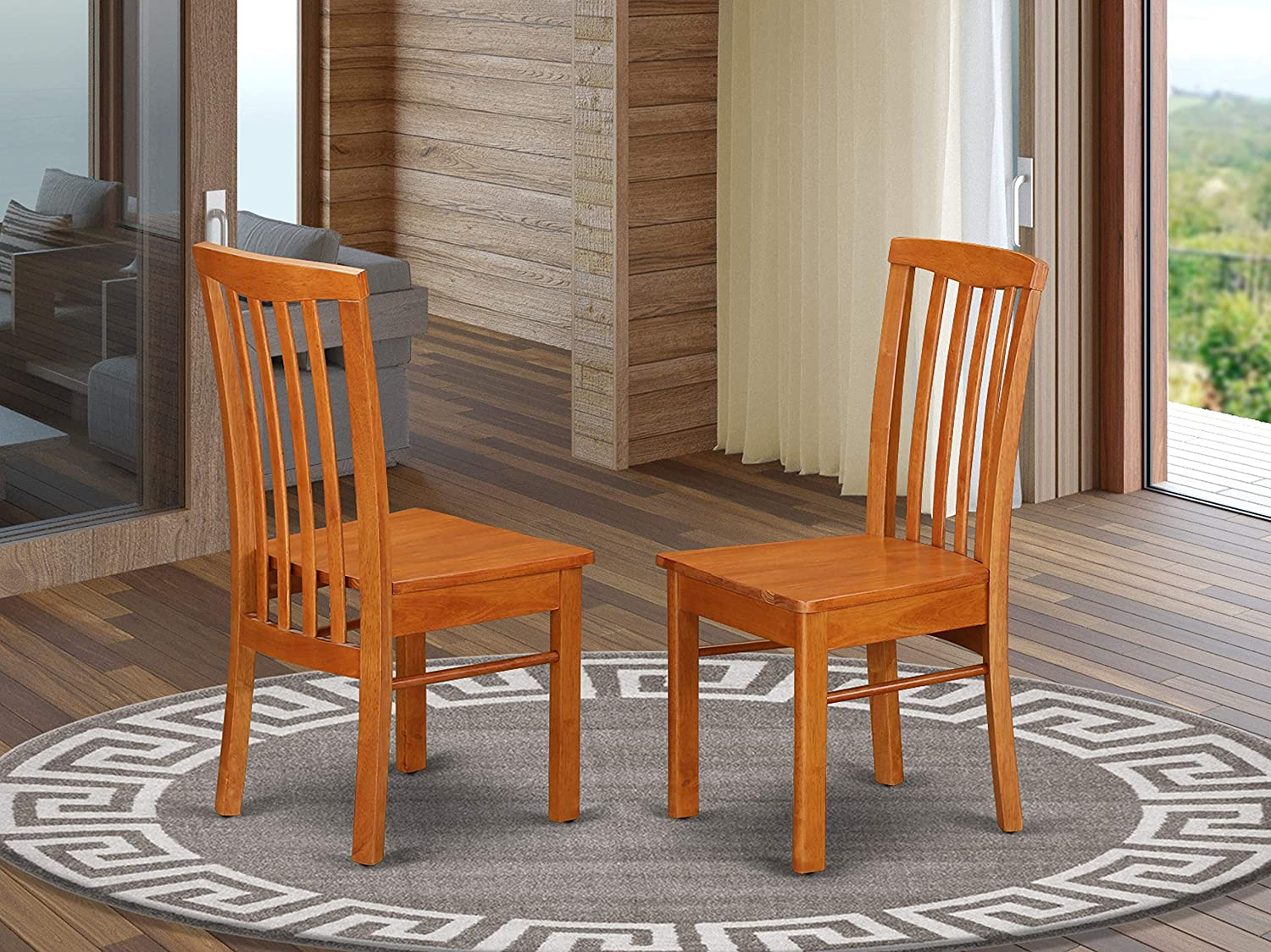 Hartland Chair for dining room Wood Seat with Light Cherry Finish