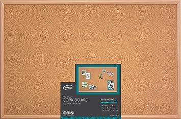 Amazoncom Board Dudes 23 X 35 Wood Style Frame Cork Board