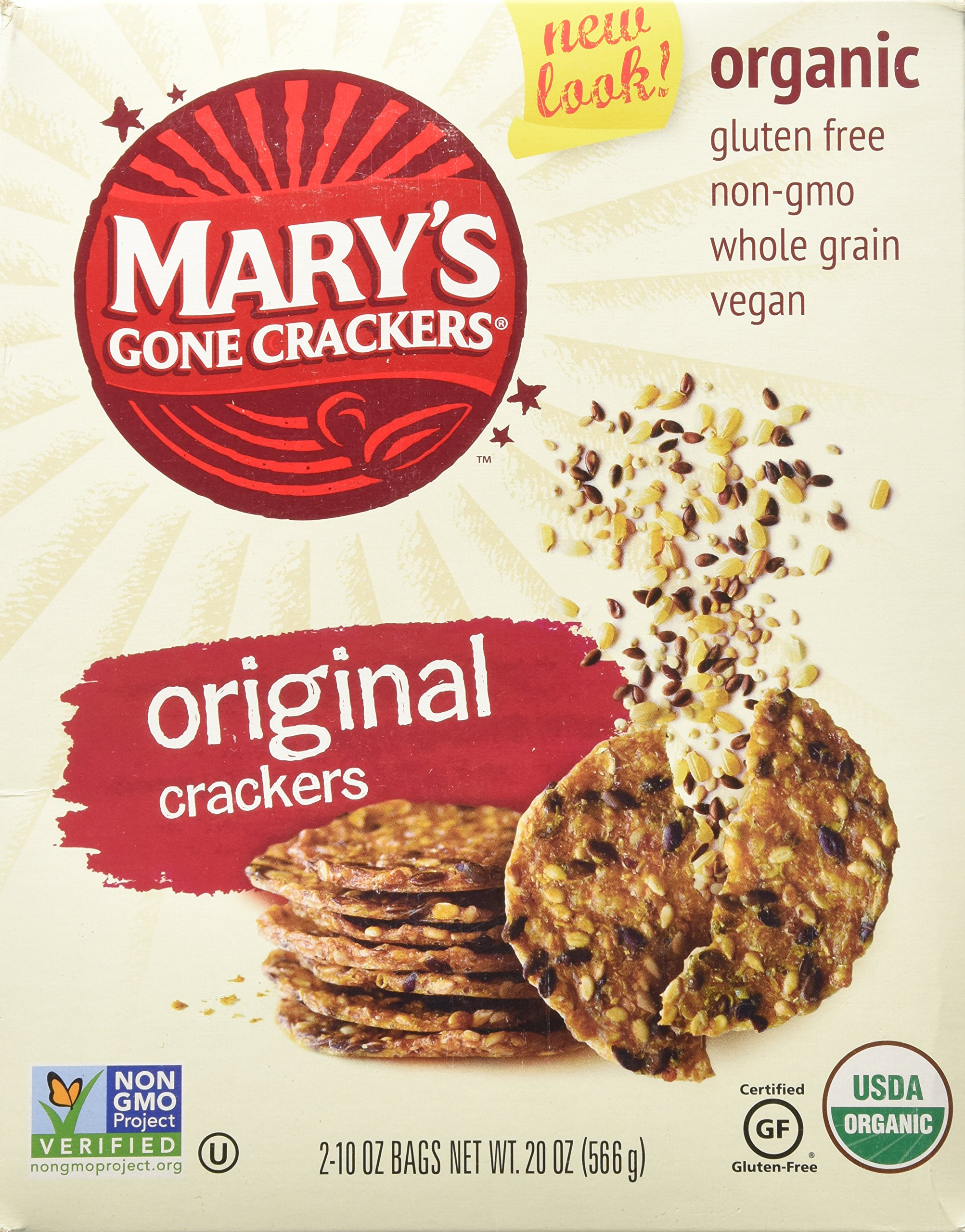 Organic Mary's Gone Crackers, 10 oz bag - 2 ct by Mary's Gone