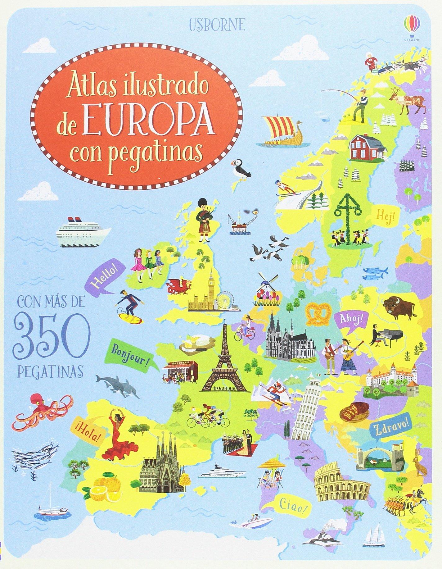 Atlas ilustrado de Europa con pegatinas: Amazon.es: Jonathan Melmoth, Jonathan Melmoth: Libros
