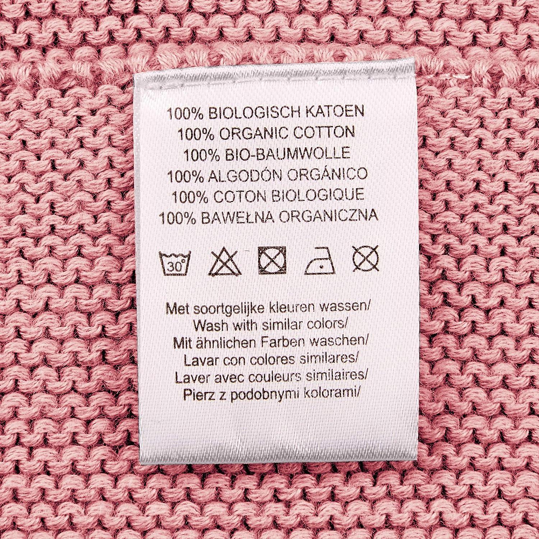 Noppies Baby-Unisex U Bed Blanket Knit NOLA 120x120 cm Tragbare Decke Old Pink C104