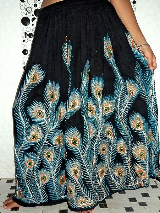 Triveni Art & Crafts Gypsy Hippie - Falda Larga para Mujer, diseño ...