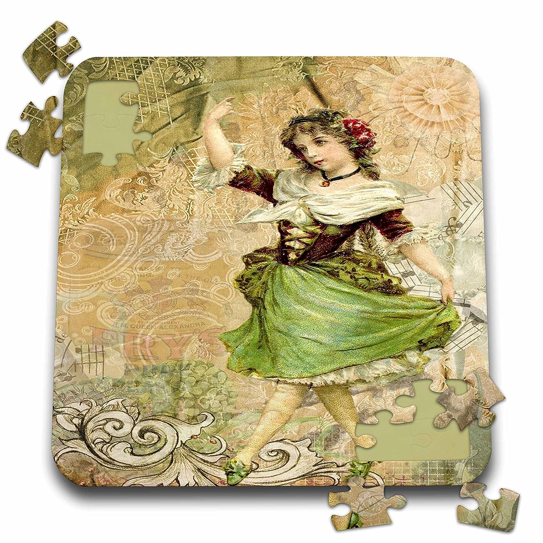 【破格値下げ】 3drose Fairies andファンタジー – イメージのヴィンテージスタイルIrish Fairy 281593 with Scrolly背景 ) P。_ – 10 x 10インチパズル( P。_ 281593_ 2 ) B07F6ZSMJH, タイヤショップ WORLD:09401480 --- 4x4.lt