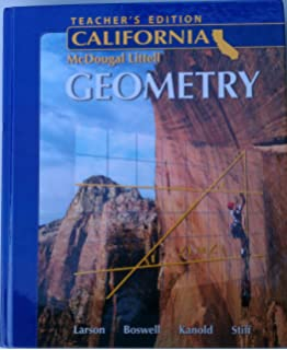 Amazon holt mcdougal larson geometry california 9780618811946 holt mcdougal larson geometry california teachers edition 2007 fandeluxe Image collections