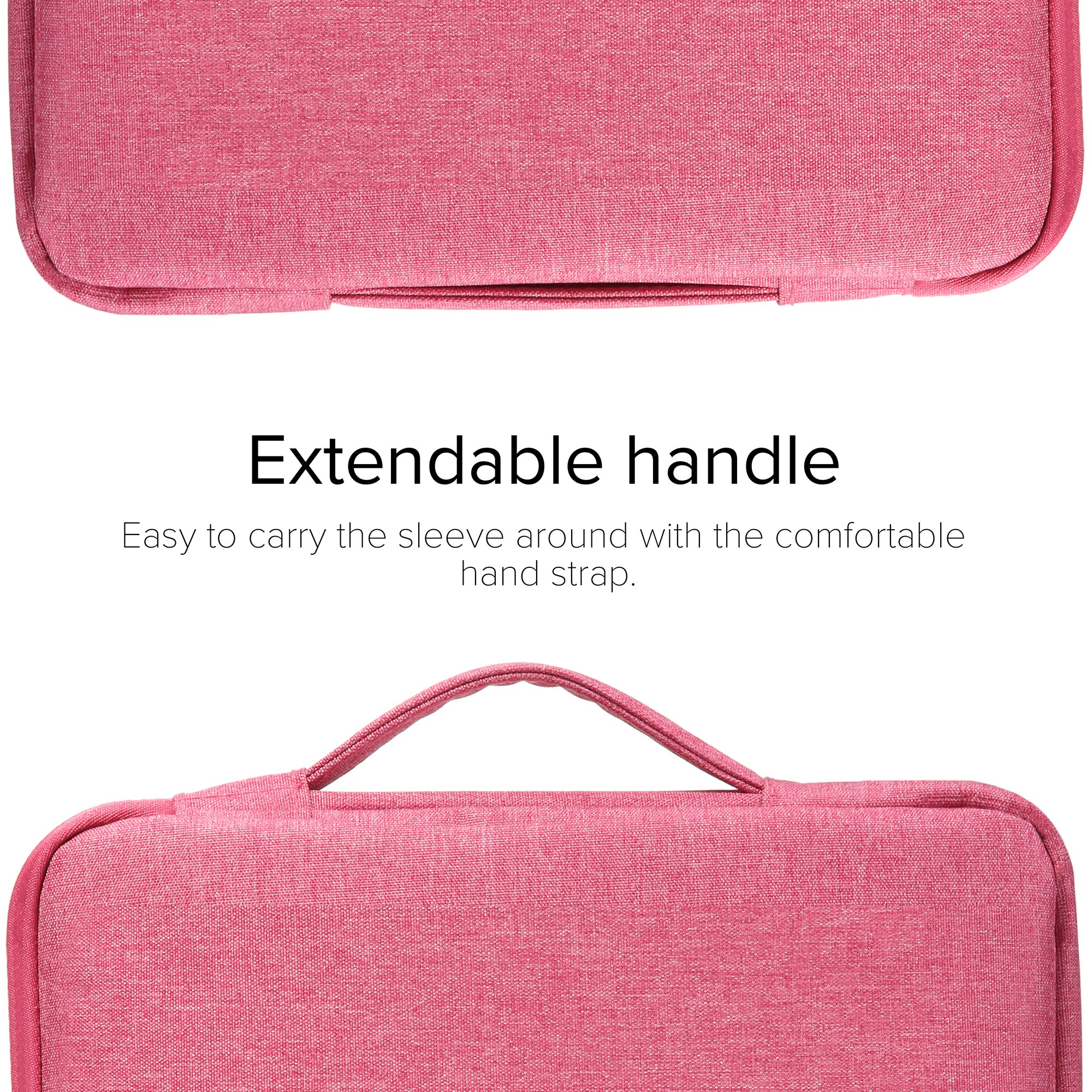 GMYLE 2 in 1 Bundle Pink Marble Soft-Touch Plastic Hard Case for Old MacBook Pro 13 Inch with Retina Display (Model: A1502/A1425) & Water Resistant Protective Laptop Bag Sleeve with Handle,Pink by GMYLE (Image #5)
