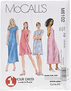 681791dd09c581 McCall s Patterns M6102 Misses  Dress In 2 Lengths
