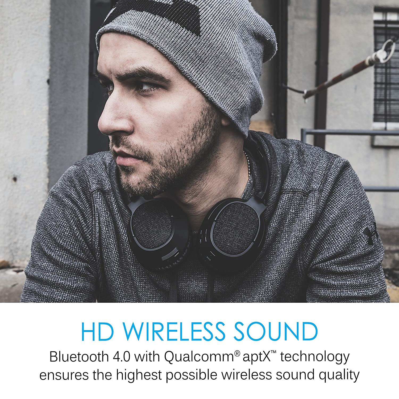 MEE Audio Matrix3 Casque Bluetooth sans Fil Haute fid/élit/é avec aptX Faible Latence