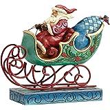 Enesco Hearwood Creek By Jim Shore Hwc Babbo Natale con La Sua Slitta, Pvc, Multicolore, 12x19x20.5 cm