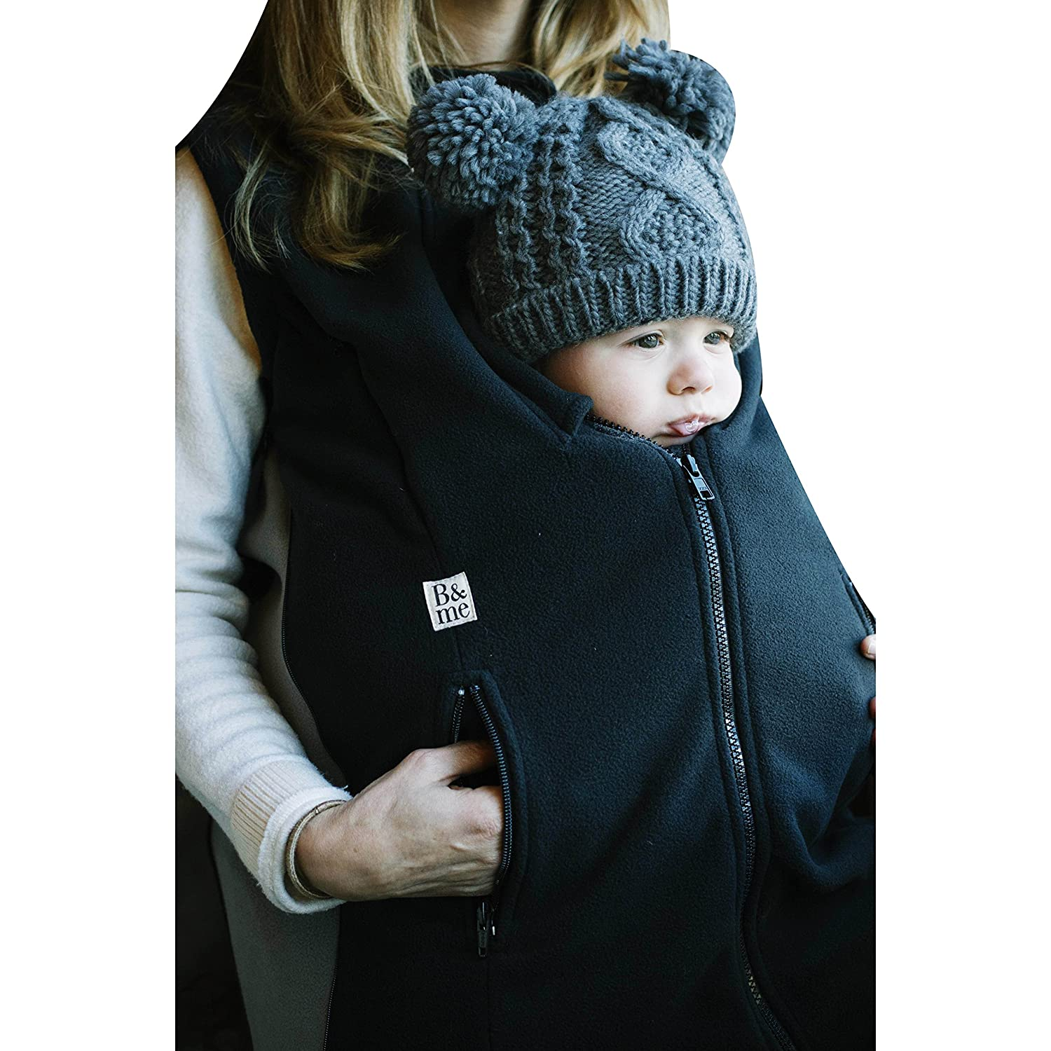 B&me Expandable Womens Vest Designed To Accommodate Baby Sling or Baby Carrier For Women (With Black Sides)