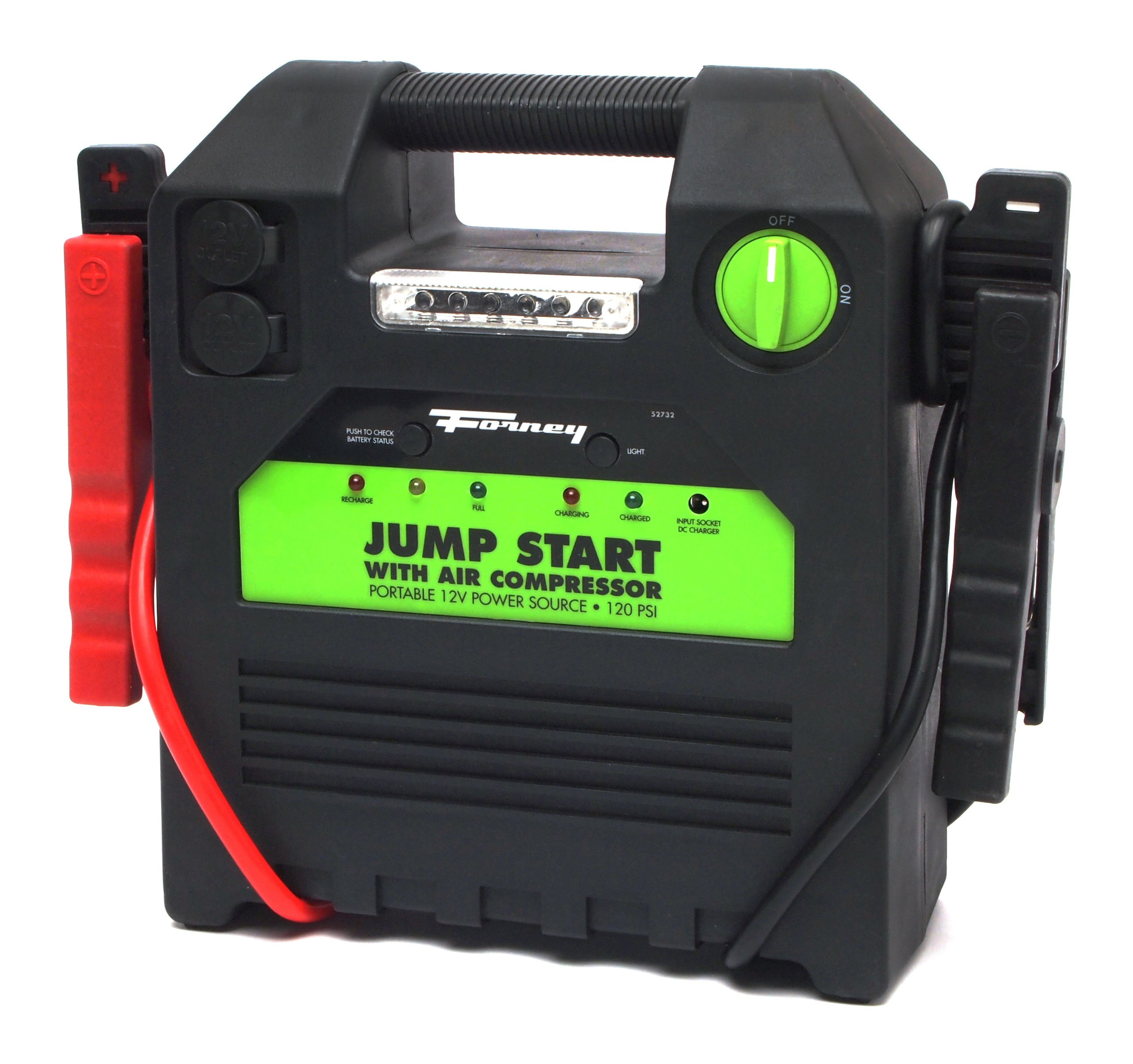 Forney 52732 Battery Booster Pack with 120 PSI Air Compressor, 18-Amp Hour, 12-Volt Jump Start by Forney (Image #4)