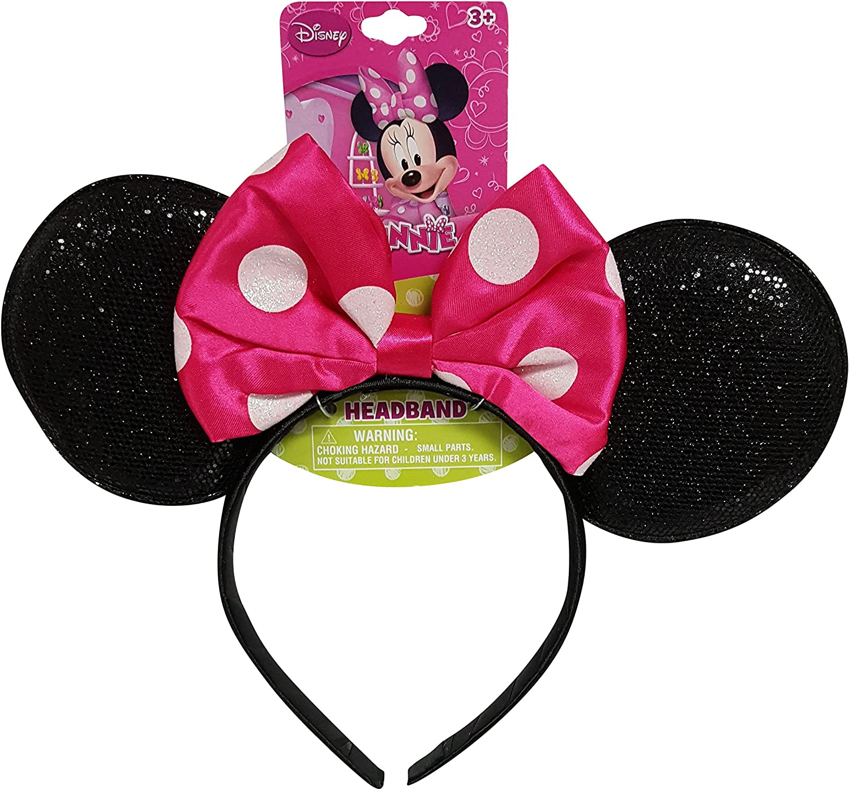 Girls Bright Pink Bow Style Ear Warmer