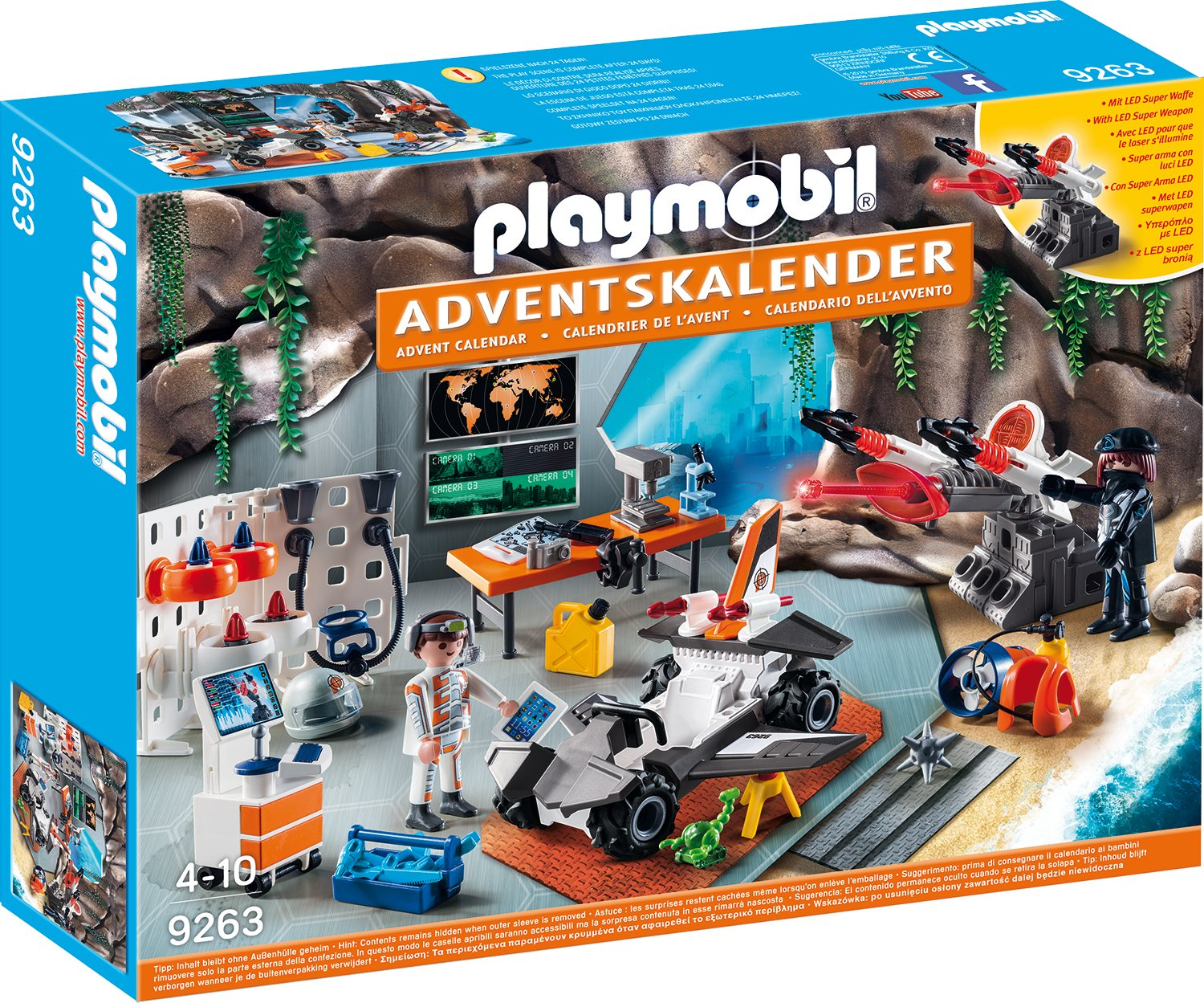 Playmobil 9263 - Adventskalender Spy Team Werkstatt de toys GEOVR