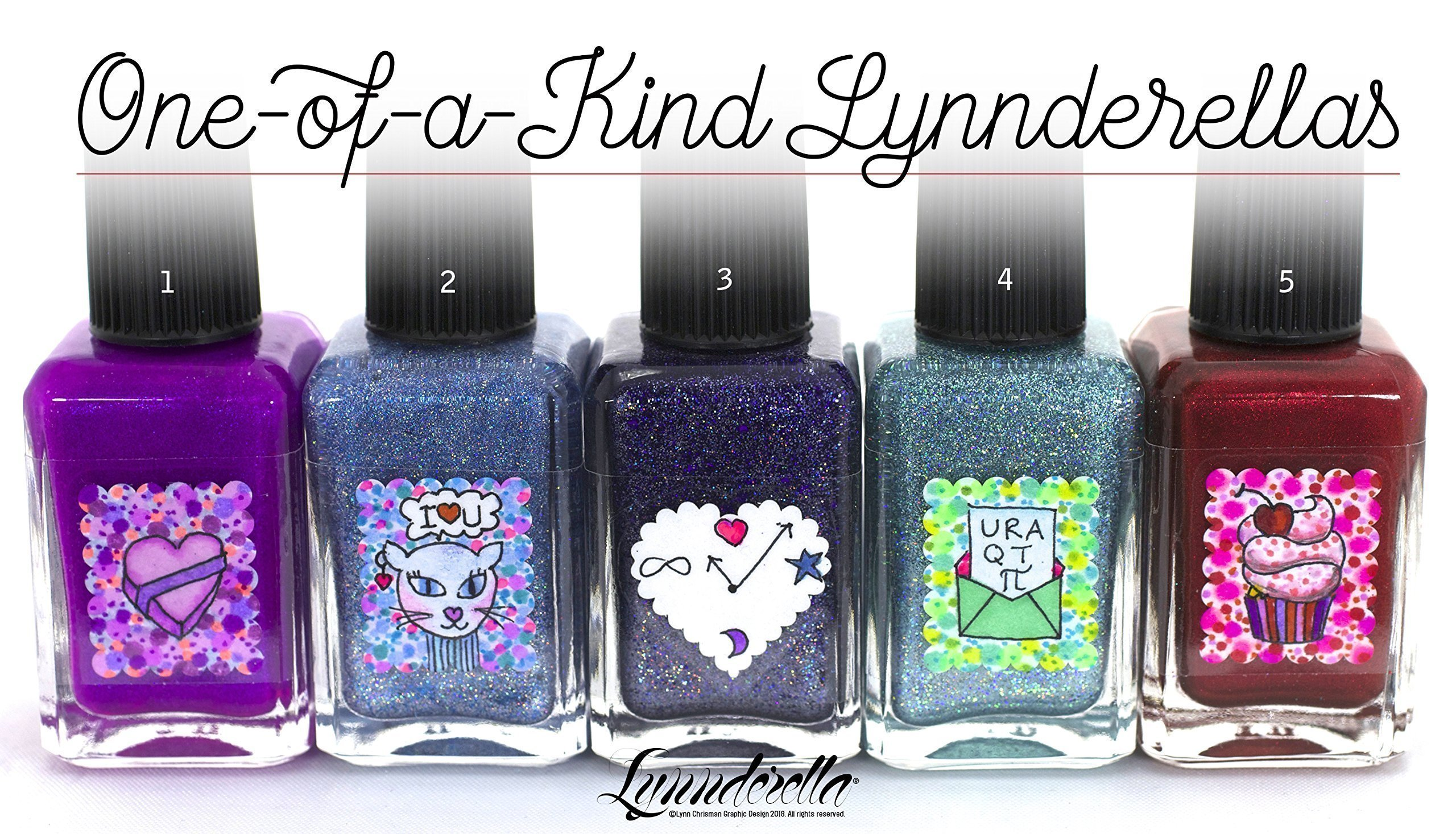 Lynnderella Valentines Day One-of-a-Kind Nail Polishes