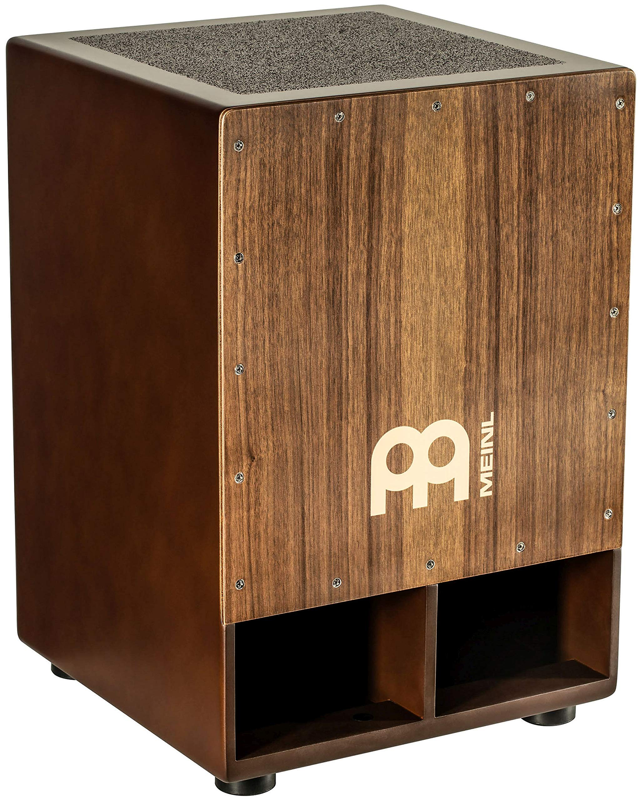 Meinl Jumbo Bass Subwoofer Cajon with Internal Snares - NOT MADE IN CHINA - Walnut Playing Surface, 2-YEAR WARRANTY (SUBCAJ5WN) by Meinl Percussion