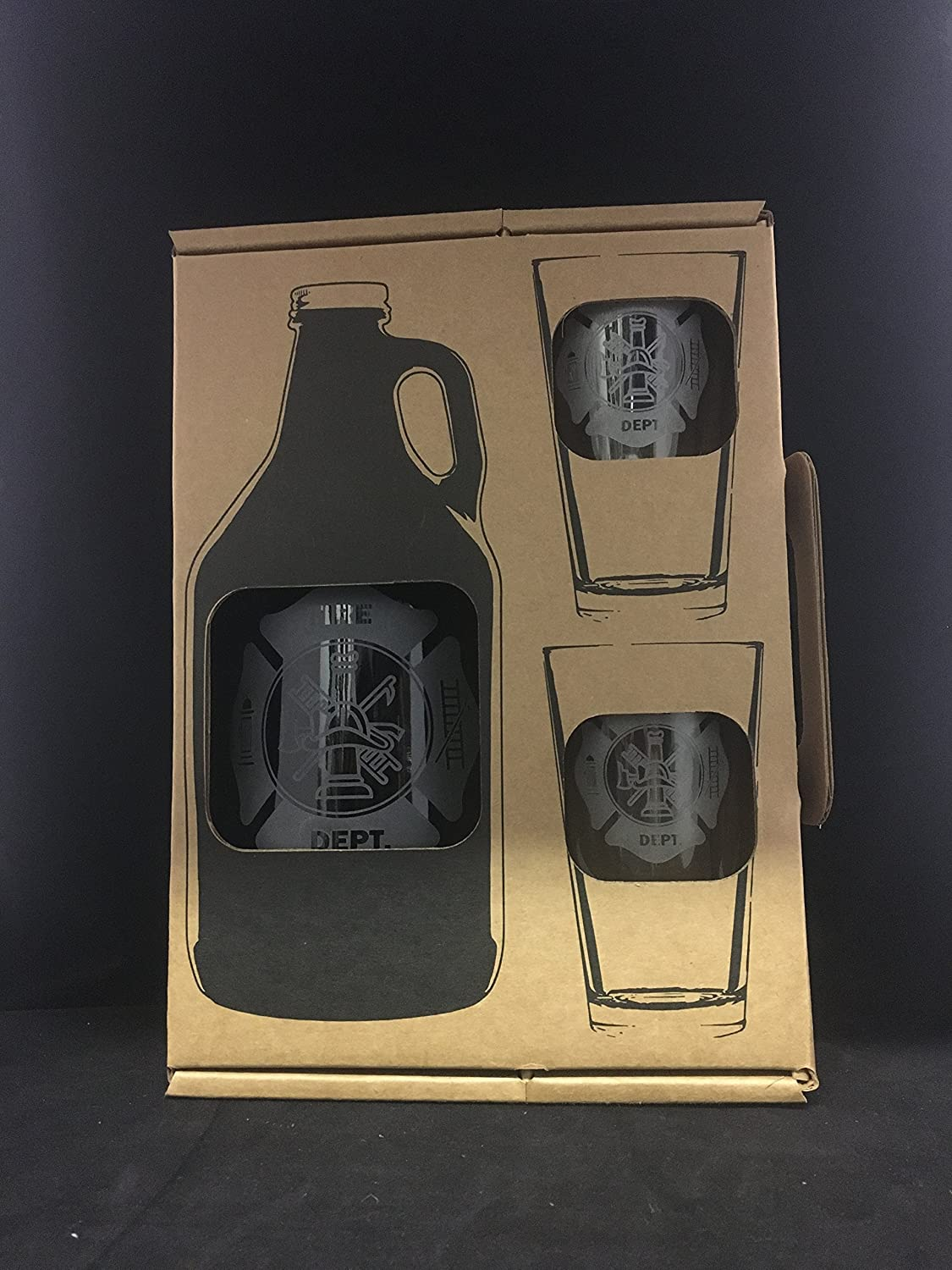 Amazon.com: Fire Department, Beer growler, Fireman Gift, Fireman ...