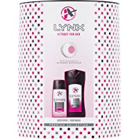 Lynx  Attract For Her Duo Women's Gift Set with Shower Speaker, Body Wash and Body Spray - Gift Set for Her