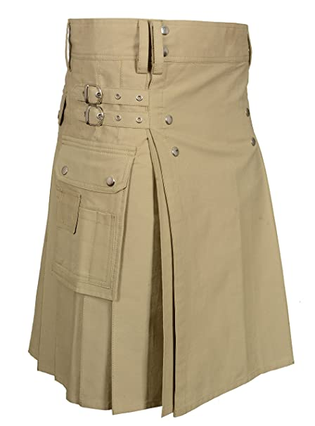 Amazon.com: Kilt para hombre, color caqui: Clothing