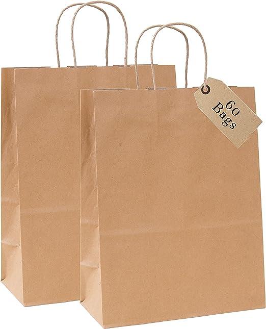 10 Strong Brown Paper Sack Bag