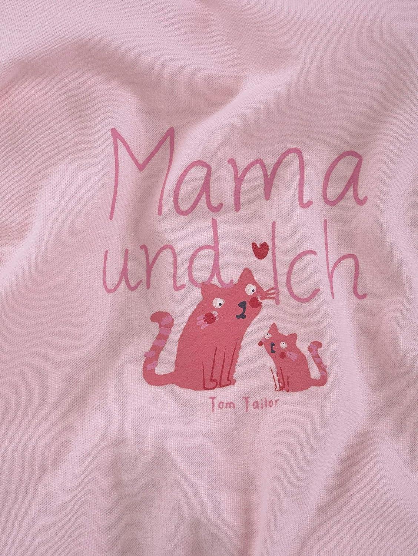 TOM TAILOR M/ädchen T-Shirts//Tops Langarmshirt mit Schrift-Print