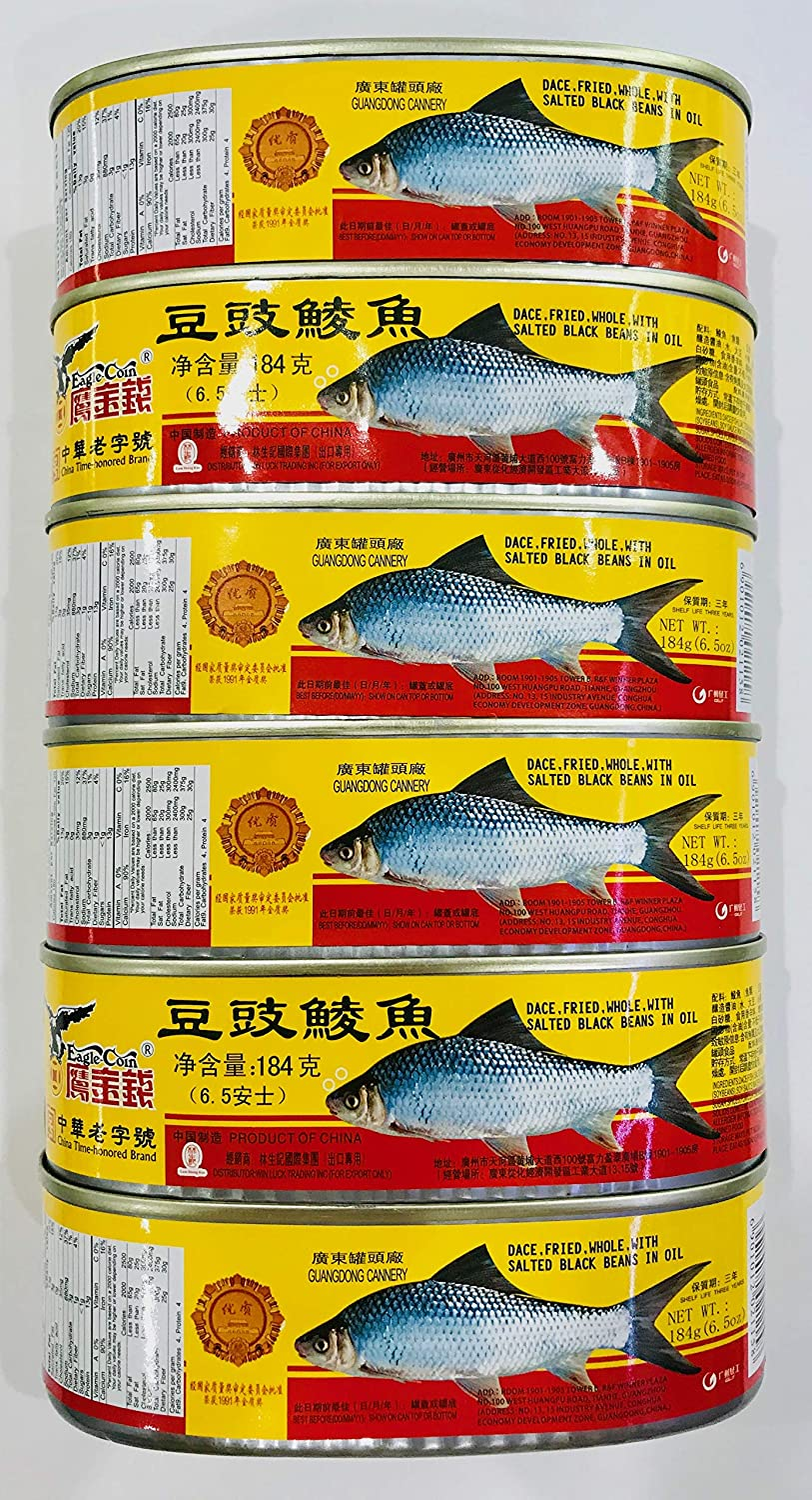 Dace (Fried & Whole) w/ Salted Black Bean in Oil ???? 6 cans