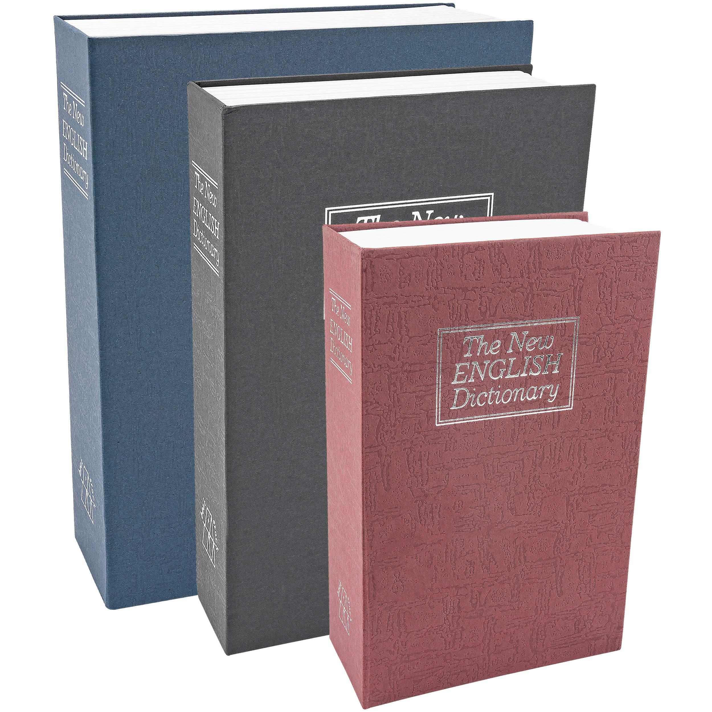 Southern Homewares SH-10189 Diversion Safe Dictionary Diversion Lock Box Book Safe, Set of 3