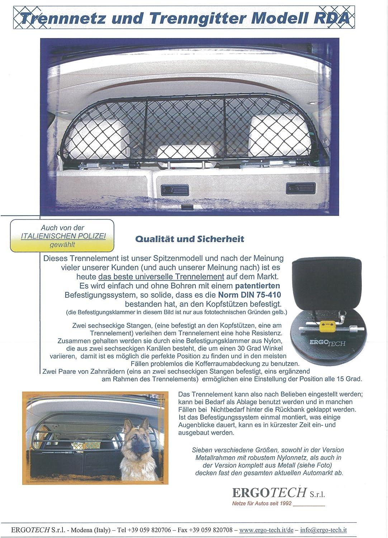 ERGOTECH Trennnetz Trenngitter Hundenetz Hundegitter f/ür Mazda Mazda2 5 t/üren ab BJ 2007
