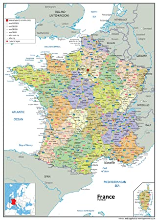Map Of France Political.France Political Map Paper Laminated A0 Size 84 1 X 118 9 Cm