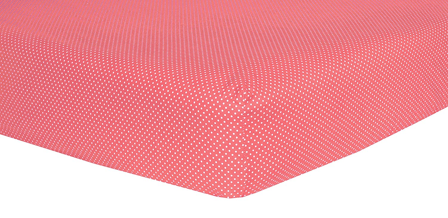 Trend Lab Cocoa Coral Dot Crib Sheet 101667