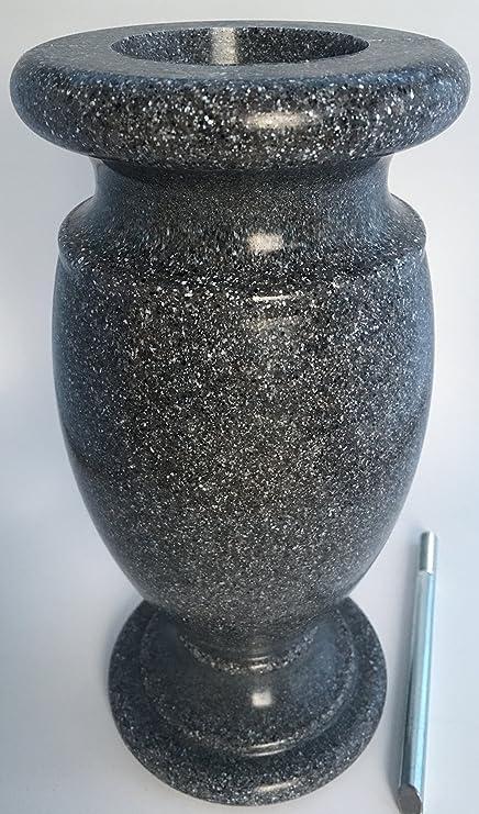 Amazon Optimum Memorial Cemetery Flower Vase Simulated Black