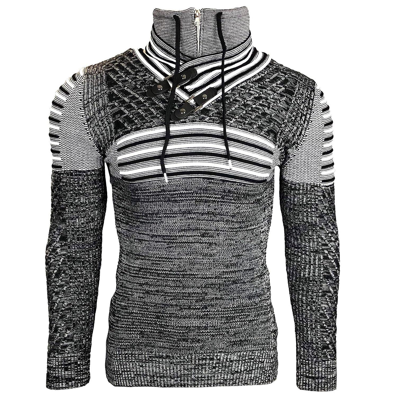 Subliminal Mode–Sudadera Shirt con Capucha y Cremallera con cordón Hombre sb-9580