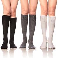 DoSmart Women Girls' Winter Warm Leggings Boot Stockings Knee High Wool Socks
