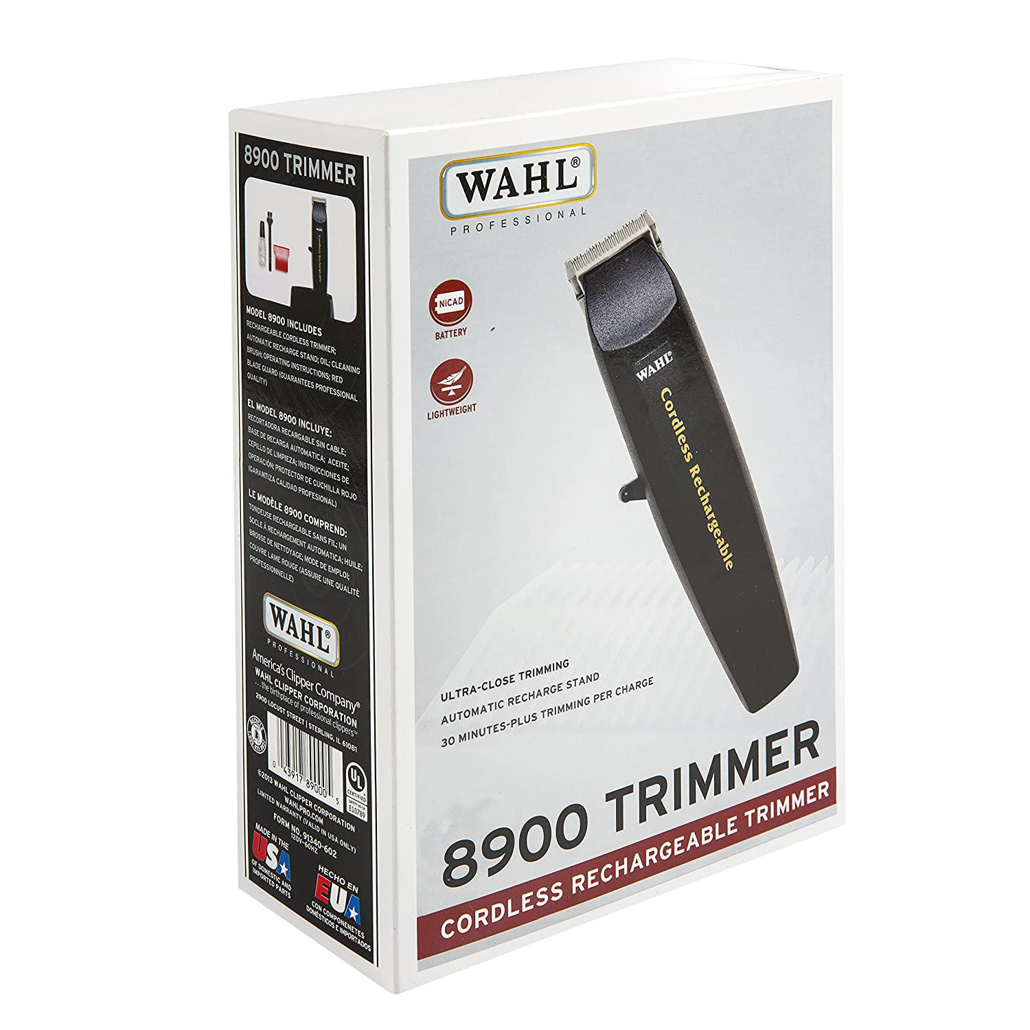 Wahl Professional 8900 Trimmer Cordless Rechargeable Trimmer