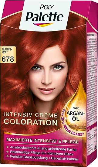 Poly Palette Intensiv Creme Coloration 678 Rubinrot 3er Pack 3 X
