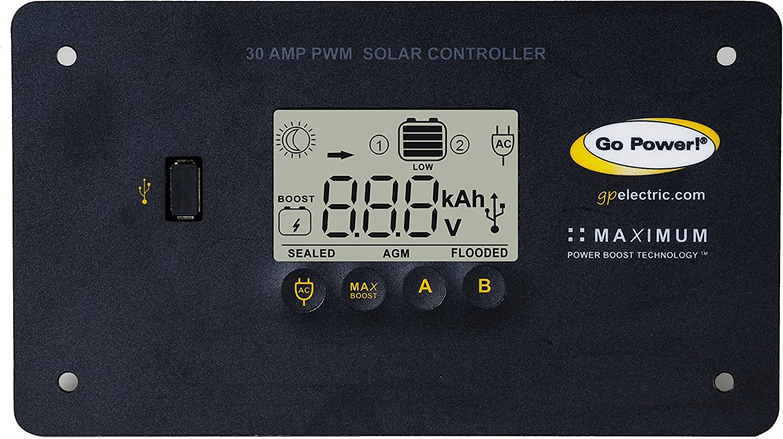 Go Power GP-RV-160 160-Watt Solar Kit with 25 Amp Digital Regulator