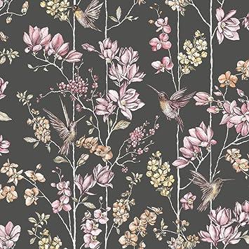 Holden Floral Charm Hummingbird Wallpaper