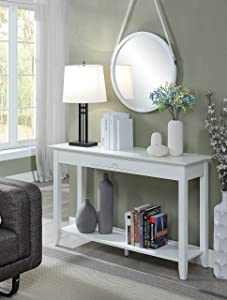 Convenience Concepts 7104099W American Heritage Console Table, White
