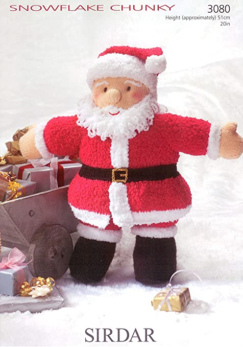 Sirdar 3080 Knitting Pattern Leaflet Father Christmas Toy To Knit In
