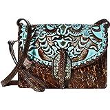 Patricia Nash Women's Lanza Crossbody Organizer Turquoise Crossbody Bag