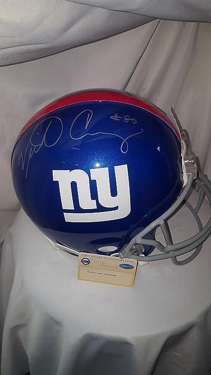 e8feaf56b Amazon.com  Victor Cruz Signed Proline Helmet  Sports Collectibles