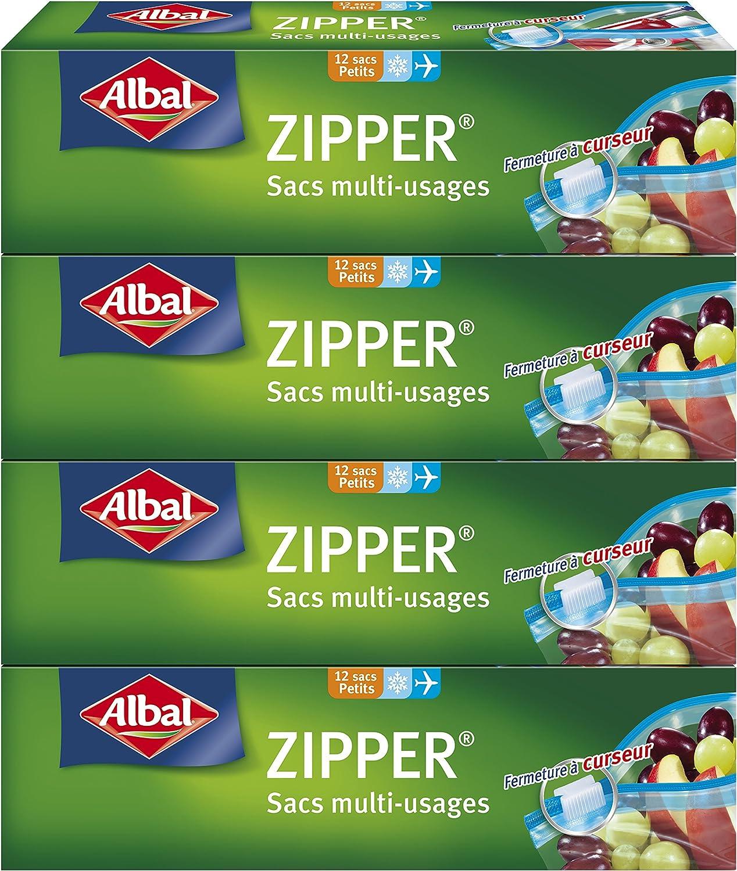 Lot DE 4 Unit/és Albal Sac Zipper Multi-Usages 1L