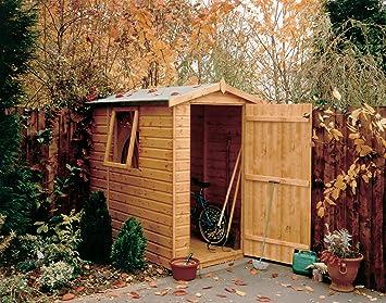 213, 36 cm x cm 152, 4 machihembrado madera caseta de jardín/taller ápice (12 mm machihembrado piso): Amazon.es: Jardín
