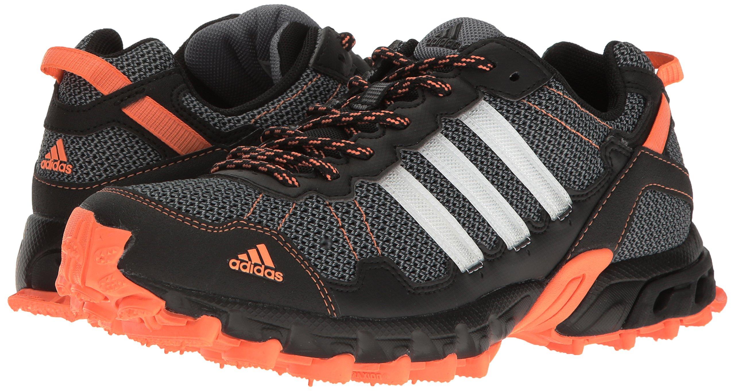 adidas Women's Rockadia Trail W Running Shoe Black/White/Easy Orange 6 M US by adidas (Image #6)