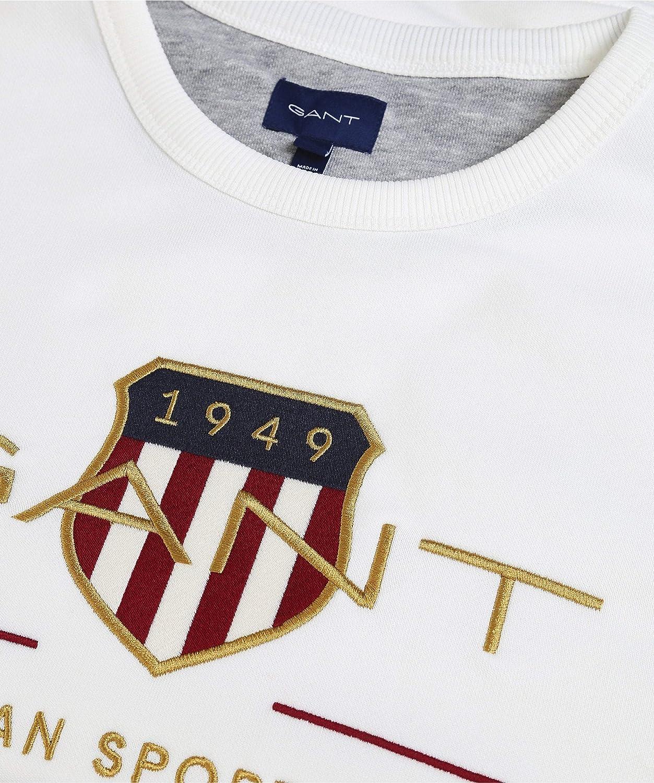 GANT Herren Archive Shield C-Neck Sweatshirt Eggshell